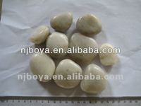 white natural river rock, landscaping paving pebbles