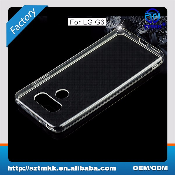 TCI7001 Factory Supply 0.6mm Ultra Slim Clear TPU Case Cover For LG G6 Soft Cell Phone Case