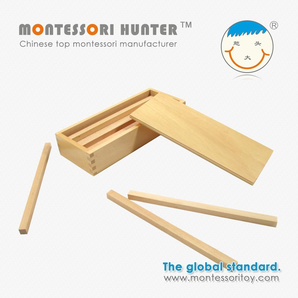 Box mit Holz Prismen für montessori lehr materialien-Andere ...