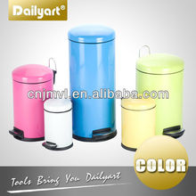 Peal Round Color Powder Coating Dustbin