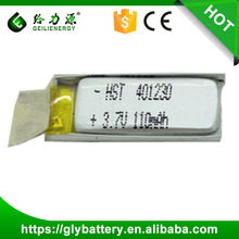 Buy chinese products online Li-polymer 401230 3.7V 110mAh battery