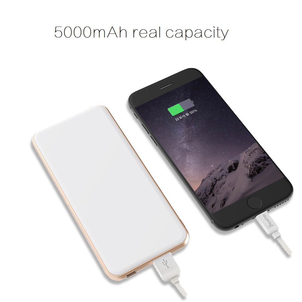 handy slim mobile power bank 5000 for smartphone external screen