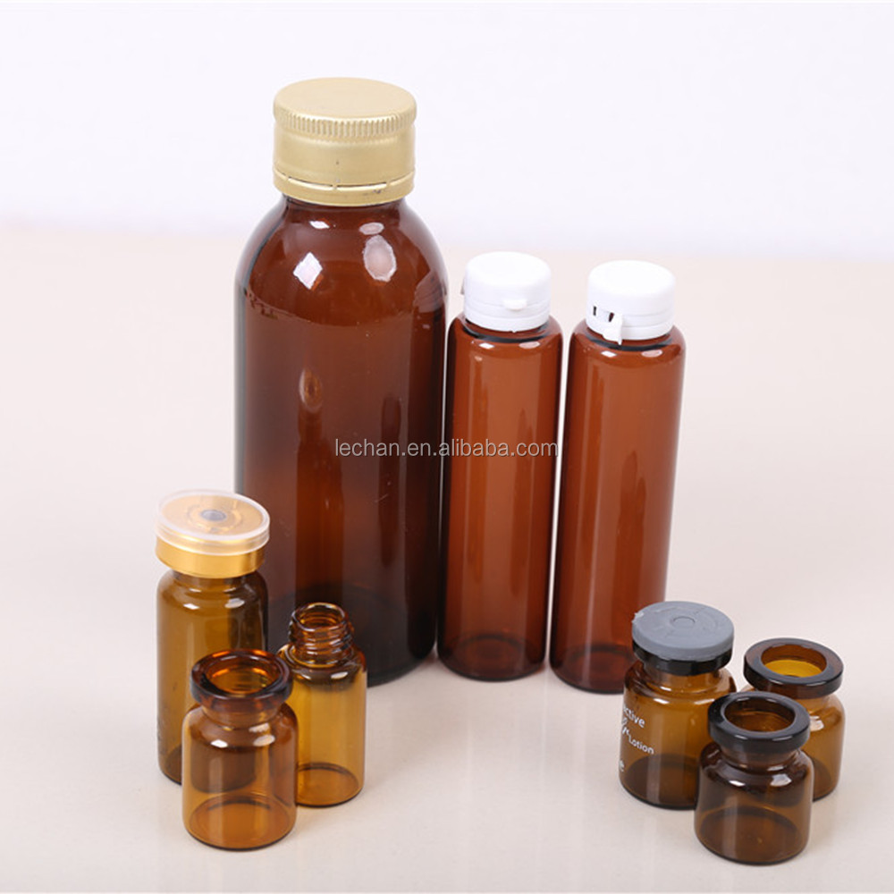 Wholesale empty steroids vials amber glass vial for steroids with rubber stopper