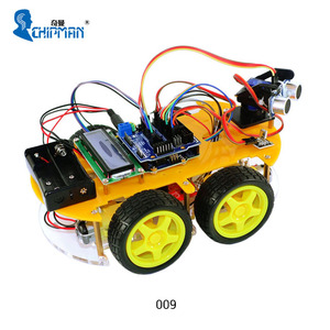 Bluetooth Multifunction Car 009 Kit Part B Based on platform 2014 with 1602 display for arduinos