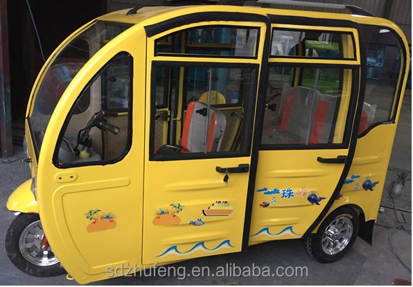 Solar operated electric battery auto tricycle/rickshaw