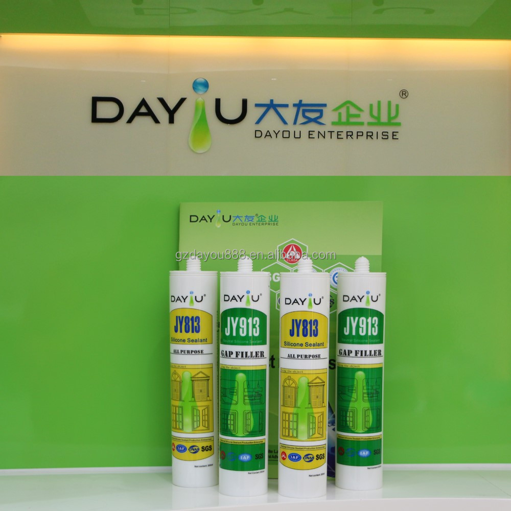 JY820 High modulus small tube of watherproof clear silicone sealant is liquid silicone glue