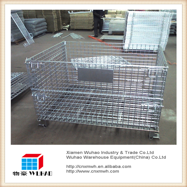 Galvanized industry ipoh wire mesh metal mesh cage/metal storage box