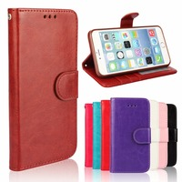 2016 New Flip Wallet Leather Mobile Cell Phone Case Cover For iPhone 6 with card slot