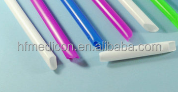 Disposable dental suction tip medical plastic tube