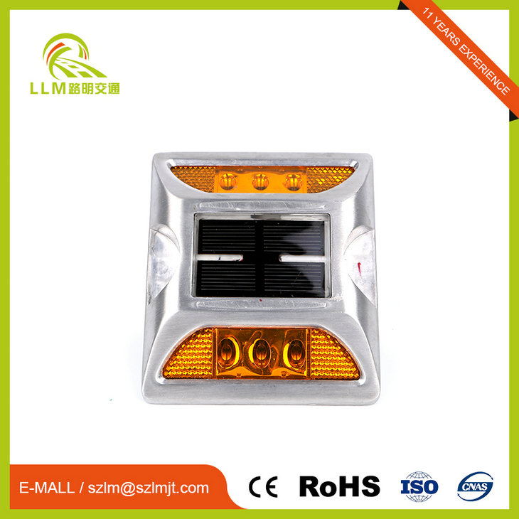 Shock resistance flash working mode high brightness ip68 solar road stud