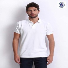100% Cotton Plain White Polo T Shirt For Men