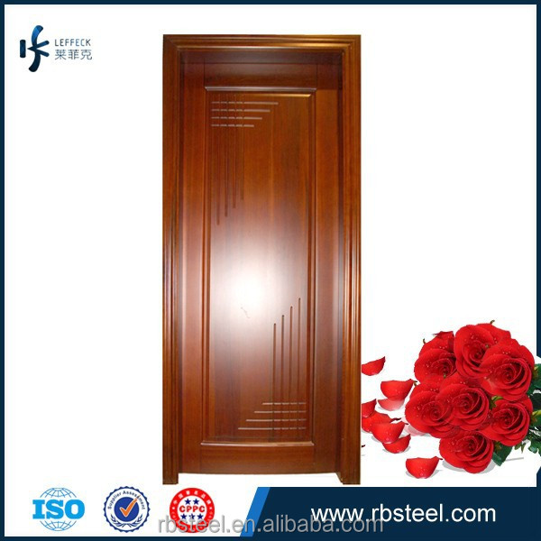 Oak simple design wood bedroom door wood solid wood door for Simple room door design