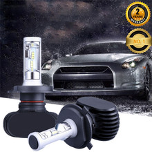 LED Headlight fanless S1 50W H13 D1S LED Head light D2S Car Headlamp 6000K LED