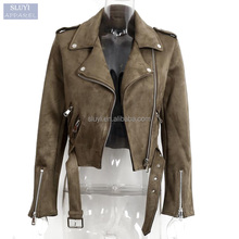 fall basic custom jacket coat buttons zipper suede bomber jackets 2017 Fashion short brown suede fabric jacket for men and women