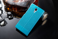 wholesale 2015 factory cheap price pu custom blue Novelty flip case cover for apple iphone 6 4.7 inch