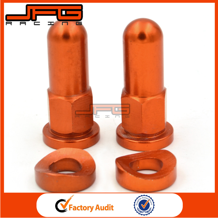 Orange MX Rim Lock Covers Nuts Washers Security Bolts For KTM EXC EXCF Motorcycle Motocross Dirt Bike