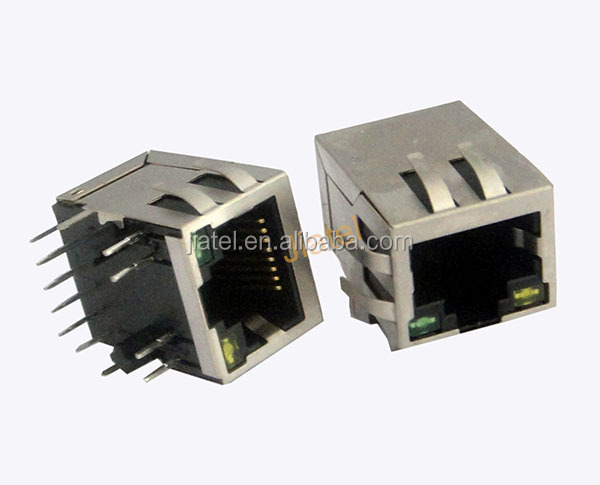 8P8C rj45 female connector with shield