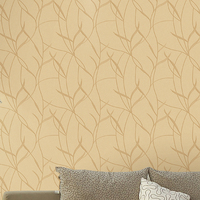 Textured leaves design chinese silk wallpaper