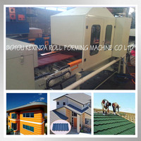 Color stone coated metal roofing sheet forming glazed tile forming machine