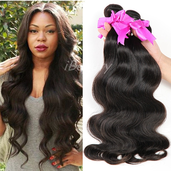 Factory Wholesale Price Unproccedssed Color 1b iBeauty Hair Weave Natural Virgin Remy Southeast Asian Hair