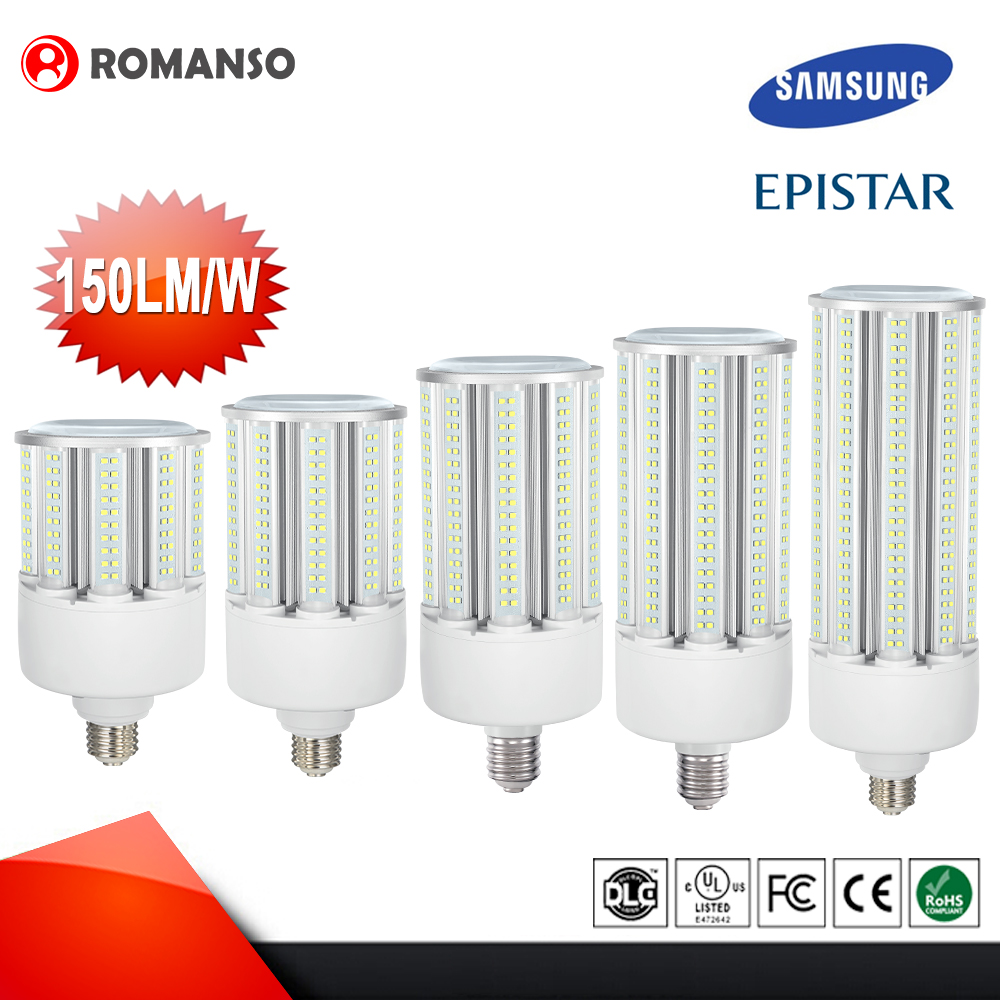 Post Top Retrofit High Brightness E40 Samsung 30 Watt 36 Watt 60 Watt Led Corn Lamp,E27 E39 Led Corncob Light
