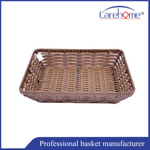 Graceful Handweaved plastic rattan display basket for supermarket