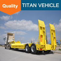 Titan manufacturer tri-axles heavy duty equipment semi low bed trailer for sale