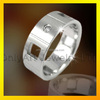 Hot sale custom couple rings for engagement tanishq cheap steel time jewelry ring fashion women fancy rings
