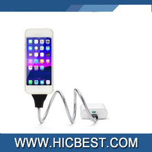2 in 1 Flexible Metal 8 Pin Lightnning USB Data Sync / Charge Cable and Stand Up Holder for iPhone5/6/7