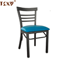 Cheap vinyl seat metal chair for restaurant cafe