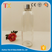 transparent glass beverage bottles wholesale 16oz