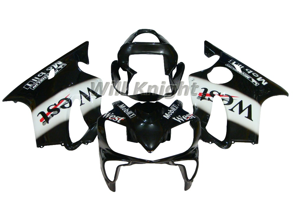 For Honda Fairing CBR600F4i 01-03 CBR 600 f4i 2001 2002 2003 Black White West