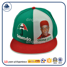 Custom colorful flat brim president election hat
