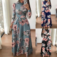 Wholesale 2019 fashion sexy ladies O-neck long sleeve Women Dresses (C183010)