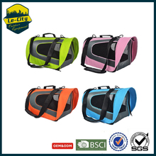 Breathable Grid Small Medium Dog pet Traveling Bag Portable Flight Case Puppy Soft Travel Bags