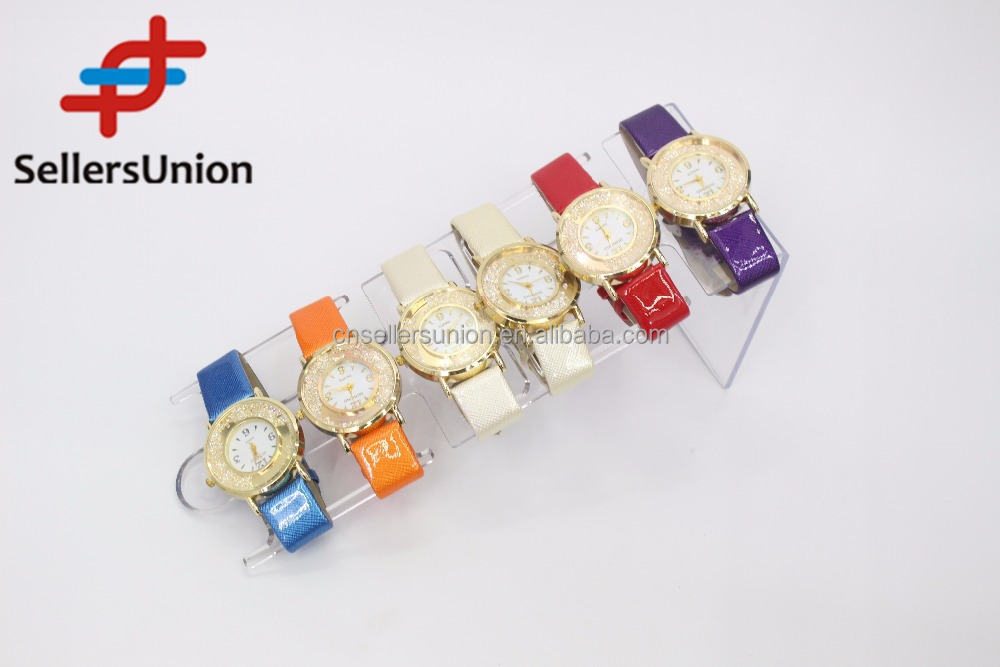 No.1 yiwu exporting commission agent wanted Luxury Brand PU Watches for Women
