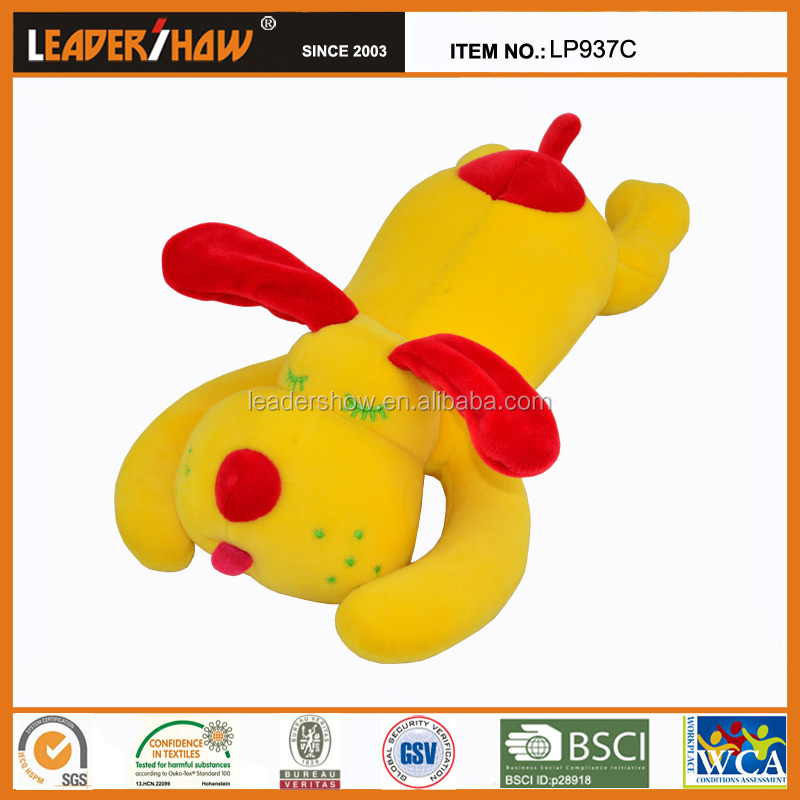 EN71 and CE Sleeping dog shaped plush animal toys pillows for free sample