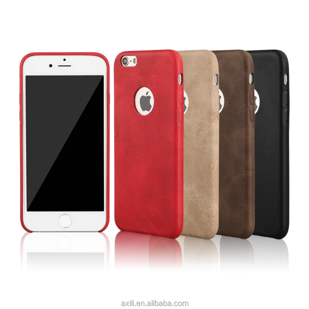 ultra thin PU leather phone case for iPhone7 7s 7plus 6 6s 6 plus leather phone case back cover for iphone 7 7 plus