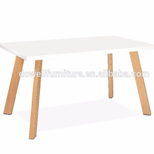 wholesale modern dining room furniture high gloss white MDF dining table