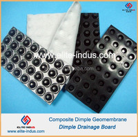 HDPE composite dimple geomembrane type geotextile drainage board