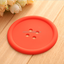 UCHOME Round Silicone Coasters Cute Button Coasters Cup Mat