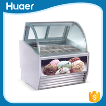 Used ice cream freezers refrigerated showcase display