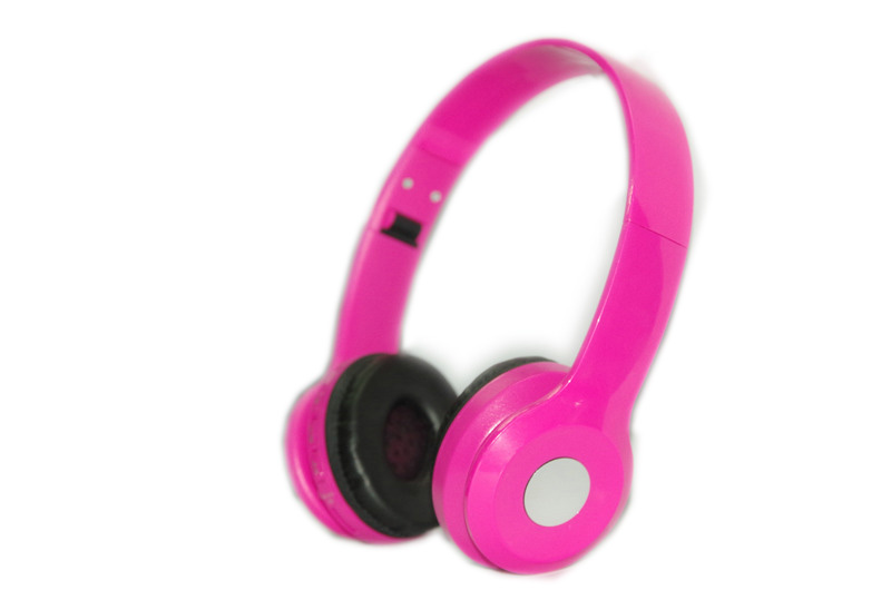 pink functional long wireless colorful bluetooth headset for children