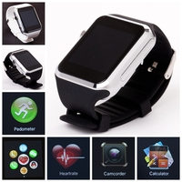 Bluetooth Smart Watch band Watch mobile Phone Support cell phone SIM/8GTF Card 2MP Camera For IOS Android Mobile Phone