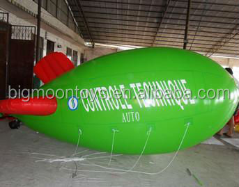 inflatable helium blimp,helium zepplins, green blimp promotion sale