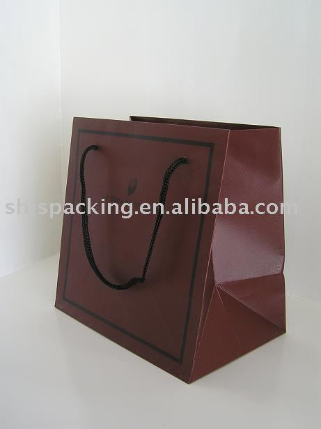 chocolet paper bag bag