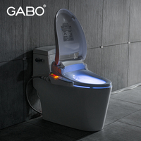 Guangdong White Color Floor Mounted Brown LED Toilet Seat