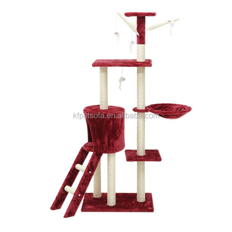 Hot Sale Cat Play Tower Sisal Scratcher Cat House Cardboard