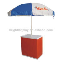 Sales promotion table with umbrella with logo printing for advertising