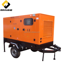 Mobile diesel generator 40kva 30kw silent enclose generator with self running price